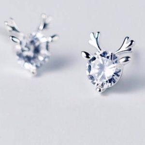 🆕 Sterling Silver Reindeer Earrings New!